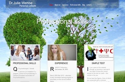 Персональний сайт та візитки для Dr. J. Wehbe