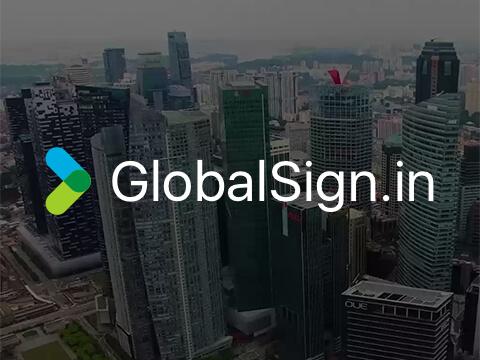 Сайт компанії GlobalSign.in (Сінгапур)